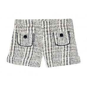 Tartin et chocolat girls geruiten wool shorts in de kleur blauw/off white