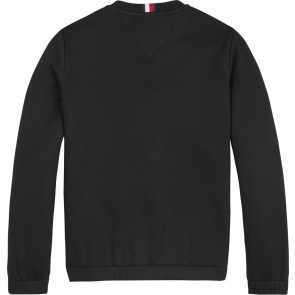 Tommy Hilfiger kids boys sweater trui soft fleece sweatshirt in de kleur black