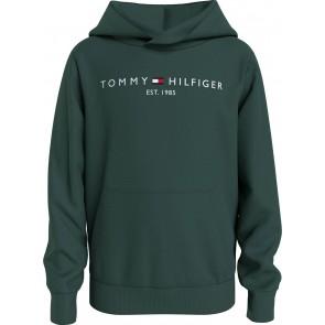 Tommy Hilfiger kids boys essential hoodie sweater trui in de kleur donkergroen