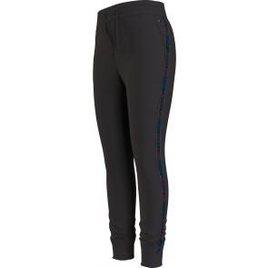 Tommy Hilfiger kids girls tommy tape velvet sweatpant broek in de kleur zwart