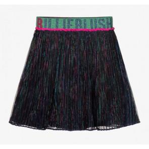 Billieblush kids girls glitter plisee rok in de kleur donkerblauw