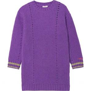 Billieblush kids girls gebreide jurk in de kleur paars/lila