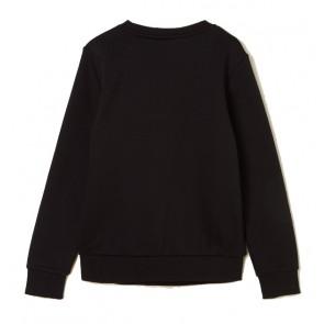 Hugo Boss kids boys sweater trui met lak letters in de kleur zwart