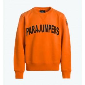 Parajumpers kids Caleb boy sweatshirt sweater trui met logo print in de kleur oranje