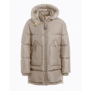 Parajumpers kids girls winterjas long bear jacket in de kleur atmosphere zand