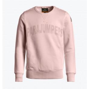 Parajumpers kids Bianca girls sweatshirt sweater trui met logo print in de kleur zachtroze
