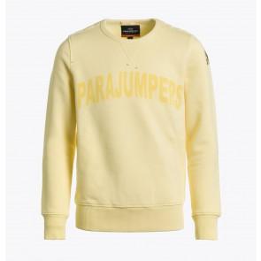 Parajumpers kids Bianca girls sweatshirt sweater trui met logo print in de kleur zachtgeel