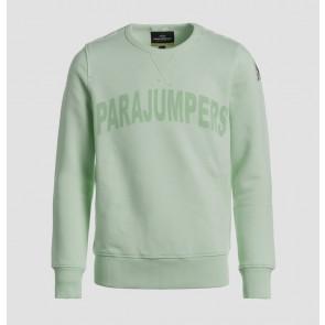 Parajumpers kids Bianca girls sweatshirt sweater trui met logo print in de kleur zachtgroen