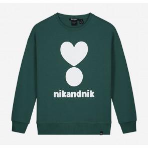 Nik en Nik girls valeria sweater trui in de kleur pine green groen