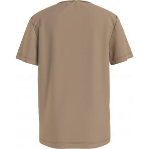 Calvin klein kids monogram logo t-shirt summer stone in de kleur zand