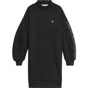 Calvin klein kids girls shadow logo sweatshirt dress jurk in de kleur zwart