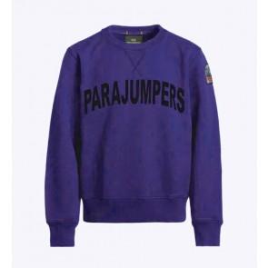 Parajumpers kids Caleb boy sweatshirt sweater trui met logo print in de kleur blauw