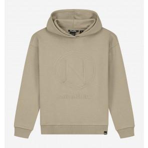 Nik en Nik girls Vida hoody sweater trui in de kleur beige/grijs