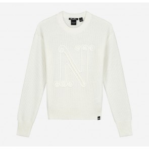 Nik en Nik girls Neomara pullover gebreide trui in de kleur off white