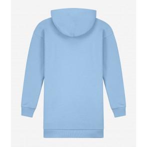 Nik en Nik girls Vida sweatdress jurk in de kleur light blue lichtblauw