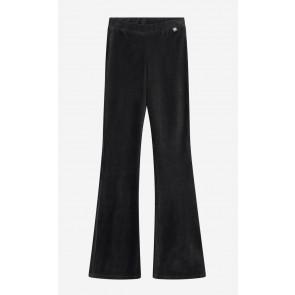 Nik en Nik girls flared velvet rib broek Farica legging in de kleur zwart