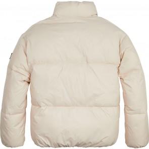 Tommy Hilfiger kids winterjas tonal tommy puffer jacket in de kleur beige