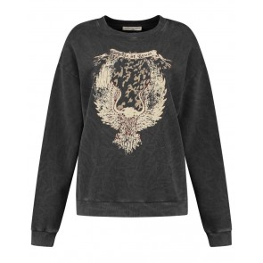 Circle of trust girls Nora caviar sweater trui in de kleur antraciet grijs