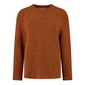 Circle of trust kids girls Jody knit gebreide trui in de kleur burnt oranje roestbruin
