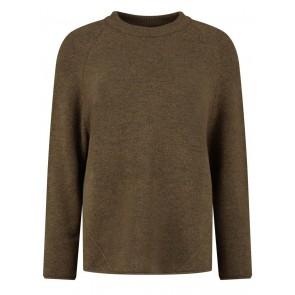 Circle of trust kids girls Jody knit gebreide trui in de kleur bruin/groen