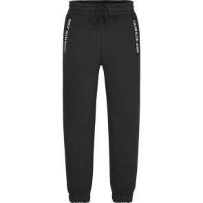 Calvin klein kids sweatpants broek intarsia logo jogger in de kleur zwart
