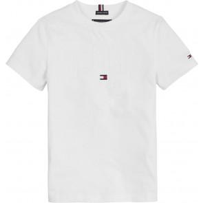 Tommy Hilfiger kids boys Tommy applique logo tee shirt in de kleur wit