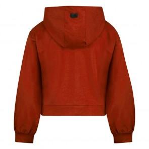 Retour jeans kids girls Elvia hoodie sweater trui in de kleur brique roestbruin