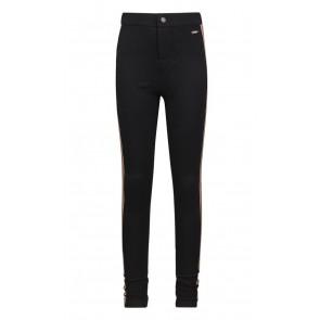 Retour jeans girls stretch broek Anita met bies in de kleur zwart