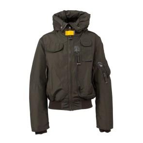 Parajumpers kids girls winterjas bomberjacket gobi base jacket in de kleur sycamore donkergroen