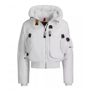 Parajumpers kids girls winterjas bomberjacket gobi base jacket in de kleur white wit