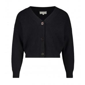 AI&KO girls kort vest Binthy met knopen in de kleur zwart