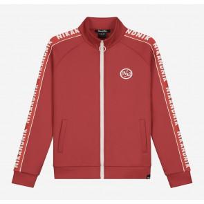 Nik en Nik kids girls Vanya trackjacket in de kleur burned red rood