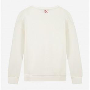 Nik en Nik kids girls Valerie sweater trui in de kleur of white