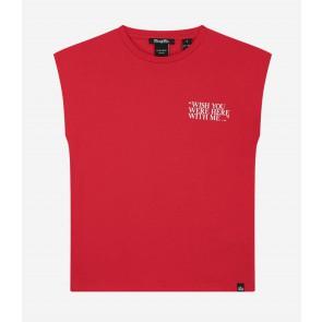 Nik en Nik wish you t-shirt in de kleur pop red rood