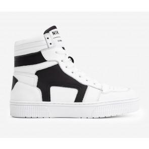 Nik en Nik kids hoge sneakers Lune schoenen in de kleur zwart/wit