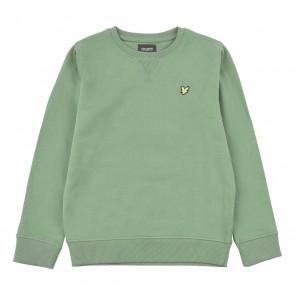 Lyle and scott kids crew neck sweater trui in de kleur zachtgroen