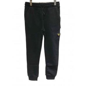 Lyle and Scott junior kids boys sweatpants broek met klepzak in de kleur zwart
