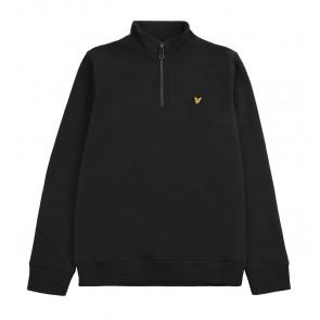 Lyle and scott kids sweater trui met rits in de kleur zwart