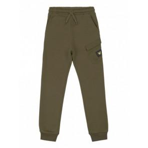 Lyle and scott kids sweatpants broek met zakje en logo in de kleur army green