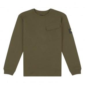 Lyle and scott kids longsleeve shirt met borstzakje in de kleur army green