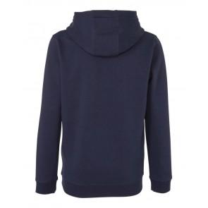 Lyle and scott kids hoodie sweater trui met fleece laagje in de kleur donkerblauw