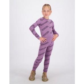 Reinders kids girls fijngebreide top zipper all over print in de kleur grapeade lila