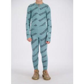 Reinders kids girls fijngebreide top zipper all over print in de kleur mineral blue