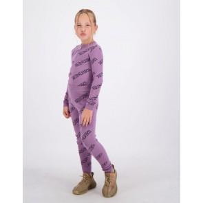 Reinders kids girls fijngebreide broek pants all over print in de kleur grapeade lila