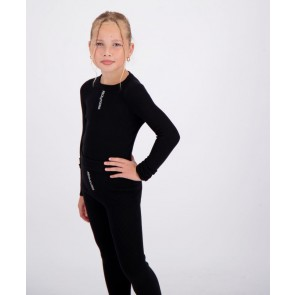 Reinders kids girls fijngebreide Livia knitwear top longsleeve in de kleur zwart
