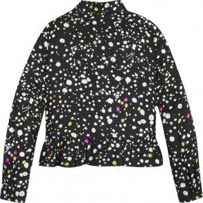 Tommy Hilfiger kids girls peplum blouse met floral print in de kleur zwart