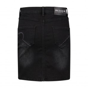 Retour jeans kids girls Mikkie knoop jeans rok in de kleur zwart