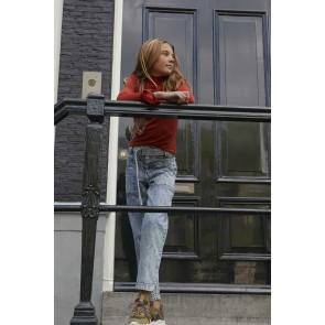 AI&KO girls paperbag jeans broek high waist in lichte wassing