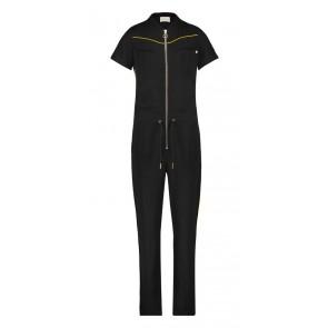 AI&KO Davina jumpsuit met gouden biesjes in de kleur zwart
