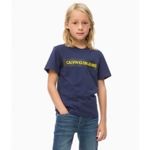 Calvin klein kids boys shirt box regular polo shirt in de kleur zwart